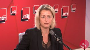 La ministre de la Transition Écologique Barbara Pompili interrogée sur France Inter mardi 8 septembre.  (FRANCE INTER / RADIOFRANCE)