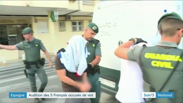 Les cinq Français accusés de viol en Espagne ont été auditionnés