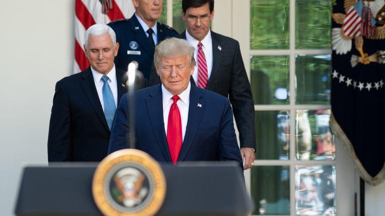Donald Trump et le vice-président Mike Pence, à la Maison Blanche le 29 août 2019. (SAUL LOEB / AFP)