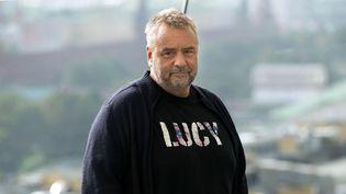 Luc Besson à Moscou le 9 septembre 2014  (Pavel Golovkin / Sipa)