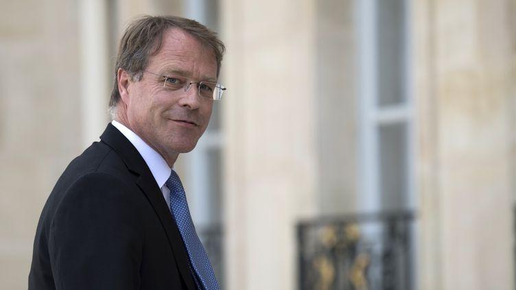 François Asselin,président de la Confédération des petites et moyennes entreprises, en juillet 2018 à l'Élysée. (ERIC FEFERBERG / AFP)