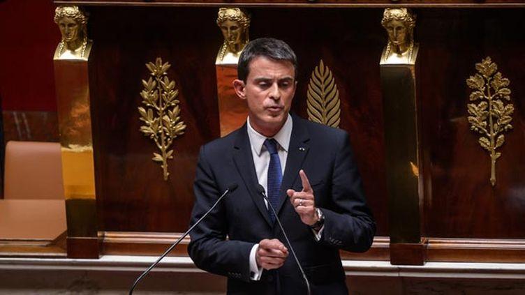 (Manuel Valls s'est exprimé ce matin devant un hémicycle quasi vide © maxPPP)