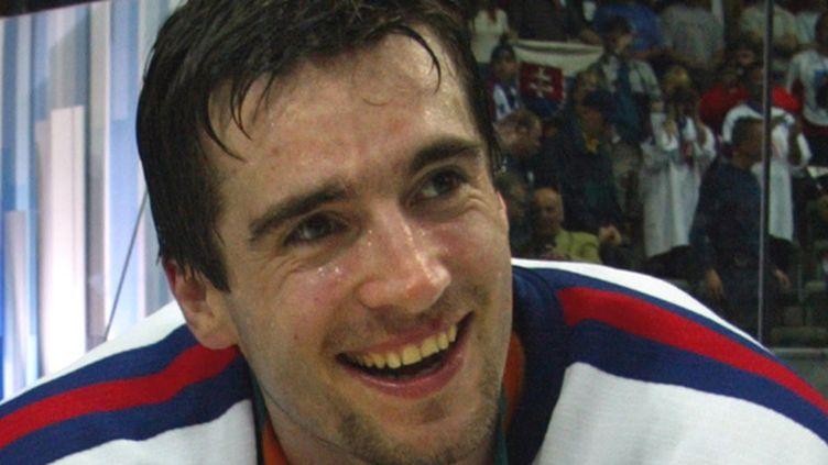 Le hockeyeur slovaque Miroslav Hlinka (ALEXANDER NEMENOV / AFP)