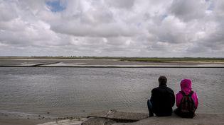 Un couple contemple la Baie de Somme. Photo d'illustration. (PHILIPPE HUGUEN / AFP)