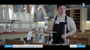 Vincent Cuel, atteint de trisomie 21 et héros du documentaire Vincent et moi (France 3)