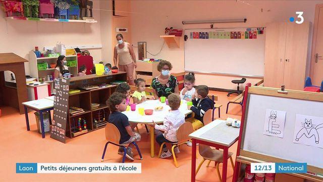 Aisne : à Laon, le petit-déjeuner est offert aux élèves de maternelle