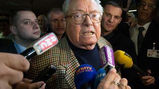 Le président d'honneur du Front national, Jean-Marie Le Pen, à Carpentras (Vaucluse), le 29 mars 2015. (BERTRAND LANGLOIS / AFP)