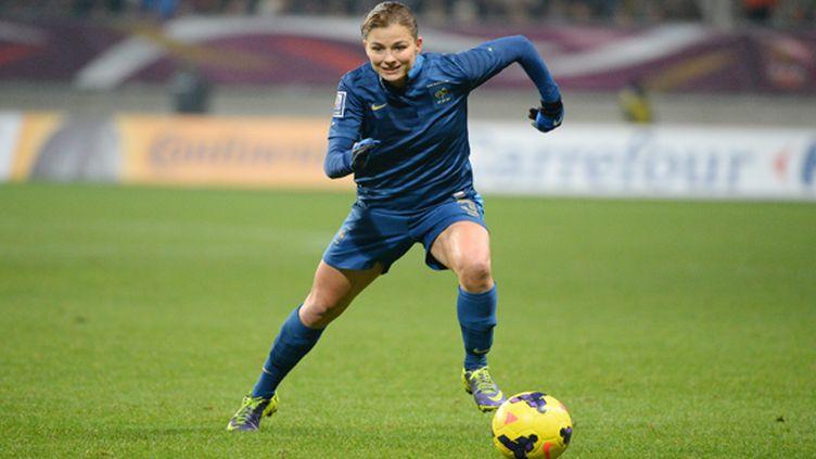 Laure Boulleau, sous les couleurs de l'équipe de France.  ( JULIEN CROSNIER / DPPI MEDIA)