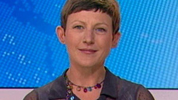 Marie Bové, candidate à la candidature comme tête de liste Europe-Ecologie pour les élections régionales en Aquitaine. (France 3)