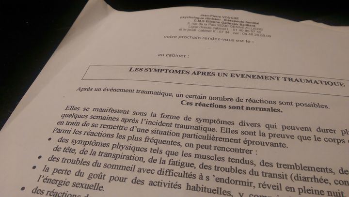 (Les symptômes après un événement traumatique © Radio France / Jérôme Jadot)
