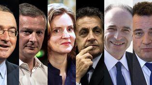 Les huit candidats à la primaire à droite. (AFP / FRANCEINFO)