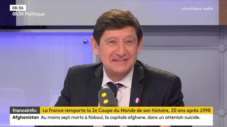 Patrick Kanner, ancien ministre des Sports, invité de franceinfo, lundi 16 juillet 2018. (RADIO FRANCE / FRANCE INFO)