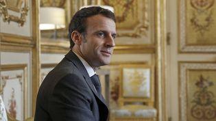 Emmanuel Macron, le 8 février 2019 à l'Élysée. (YOAN VALAT / POOL)