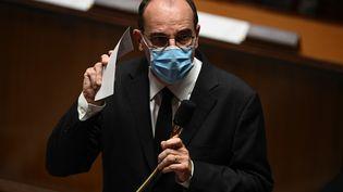 Le Premier ministre Jean Castex, à l'Assemblée nationale, le 20 octobre 2020. (CHRISTOPHE ARCHAMBAULT / AFP)