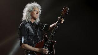 Brian May, guitariste de Queen, sur scène à Barcelone le 22 mai 2016  (Alejandro García /(EPA) EFE / Newscom / MaxPPP)