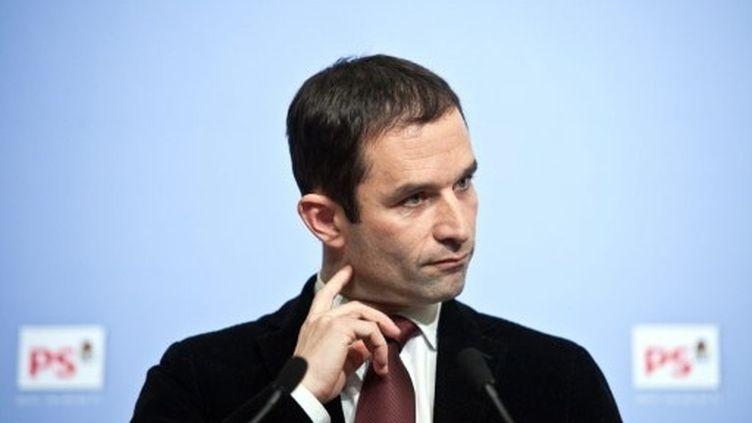 Benoît Hamon a invité Arnaud Montebourg à modérer ses propos lors du point presse hebdomadaire du PS (AFP)