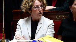 La ministre du Travail, Muriel Pénicaud, pendant la session des questions au gouvernement à l'Assemblée nationale, le 5 juillet 2017 à Paris. (MARTIN BUREAU / AFP)