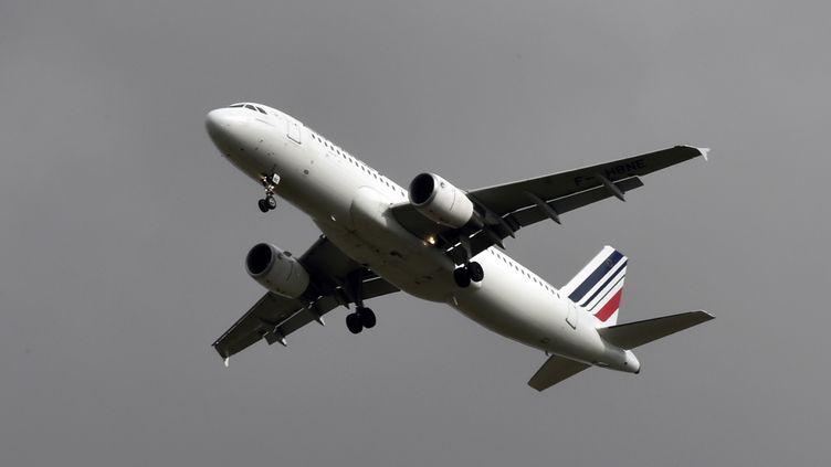 Un avion d'Air France, le 2 mars 2017 près de Toulouse (Haute-Garonne). (PASCAL PAVANI / AFP)