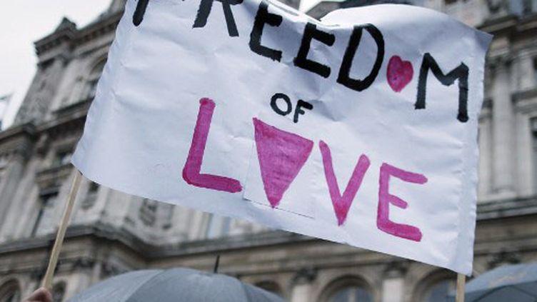 Le président deSOS Homophobie dénonce une persistance de l'homophobie en France. (KENZO TRIBOUILLARD / AFP)