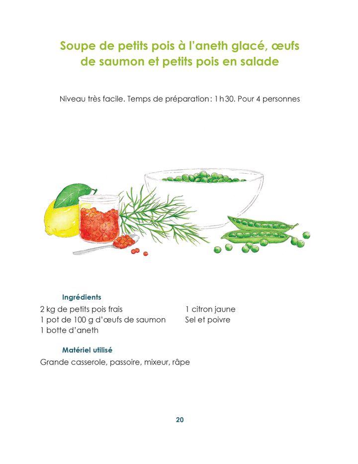"""""""Soupes de printemps"""", de Guy Savoy avec Alexis Voisenet, page 20 (@Laura Merle / Editions Hersher)"""