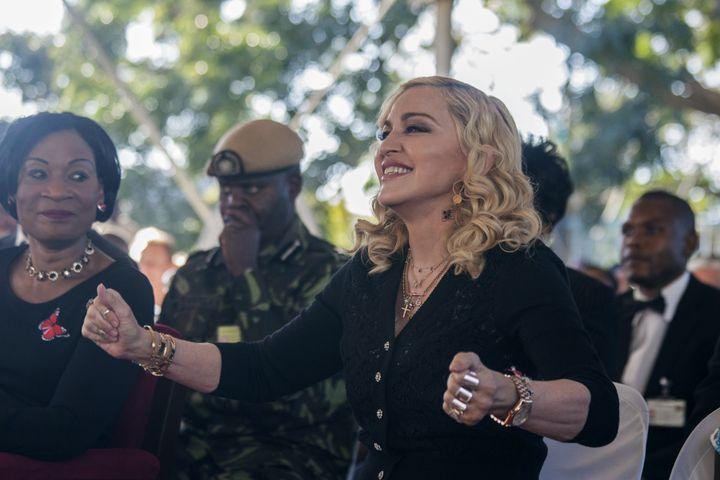 Madonna à Blantyre (Malawi), le 11 juillet 2017. (AMOS GUMULIRA / AFP)