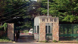 Entrée de la Radio-Télévision nationale du Burundi (RTNB), à Bujumbura, la capitale, le 20 avril 2001. (MARCO LONGARI / AFP)