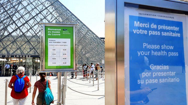 Pour entrer au musée du Louvre, il fautdésormais présenter son pass sanitaire. (BENJAMIN ILLY / RADIO FRANCE)