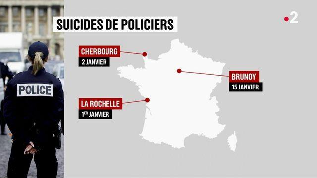 Huit suicides de policiers depuis le début de l'année