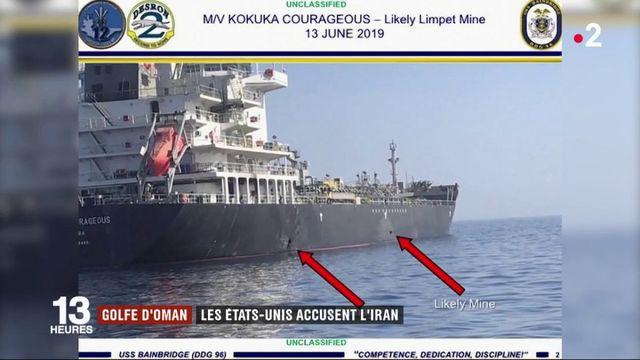 Washington accuse Téhéran d'avoir attaqué des pétroliers dans le golfe d'Oman
