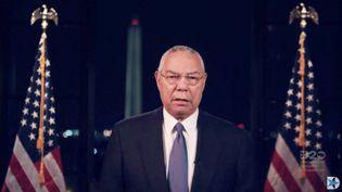Colin Powell, le 18 août 2020, dans l'Etat du Wisconsin (Etats-Unis). (DEMOCRATIC NATIONAL CONVENTION / AFP)
