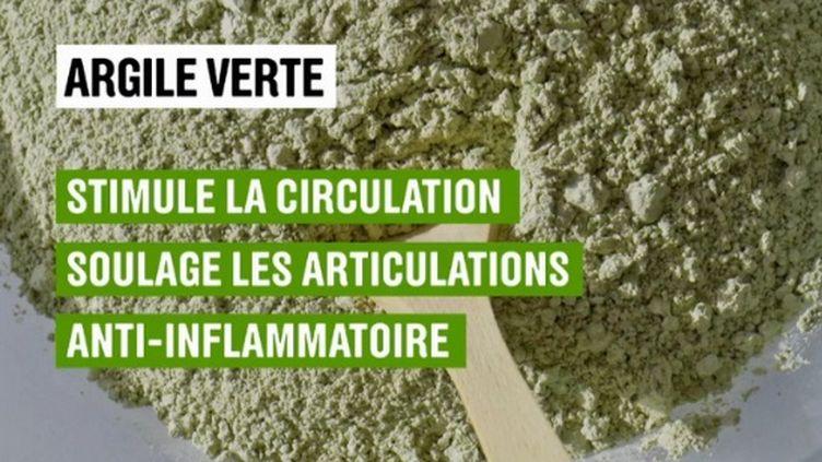 L'argile connait un succès grandissant. Sur le plateau du 13 Heures, Florence Griffond nous en explique les vertus et détaille les précautions d'usage. (France 2)
