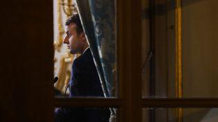 Emmanuel Macron à l'Elysée, le 13 mars 2018. (LUDOVIC MARIN / AFP)