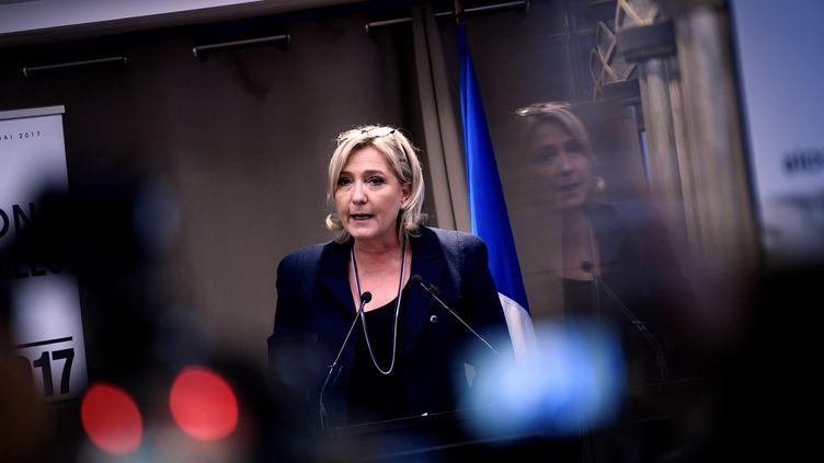 Marine Le Pen, à Paris, le 9 décembre 2016 (MARTIN BUREAU / AFP)