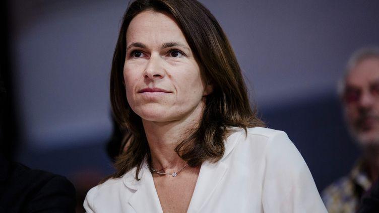 L'ancienne ministre de la Culture, Aurélie Filippetti, lors de l'université d'été du PS, le 30 août 2014 à La Rochelle (Charente-Maritime). (MAXPPP)