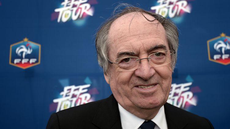 Le président de la Fédération française de football, Noël Le Graët, le 16 mai 2015, à Jœuf (Meurthe-et-Moselle). (FREDERICK FLORIN / AFP)