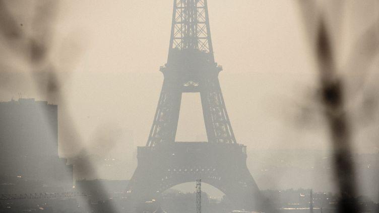 La pollution de l'air au dessus de Paris en février 2017. Image d'illustration. (MAXPPP)