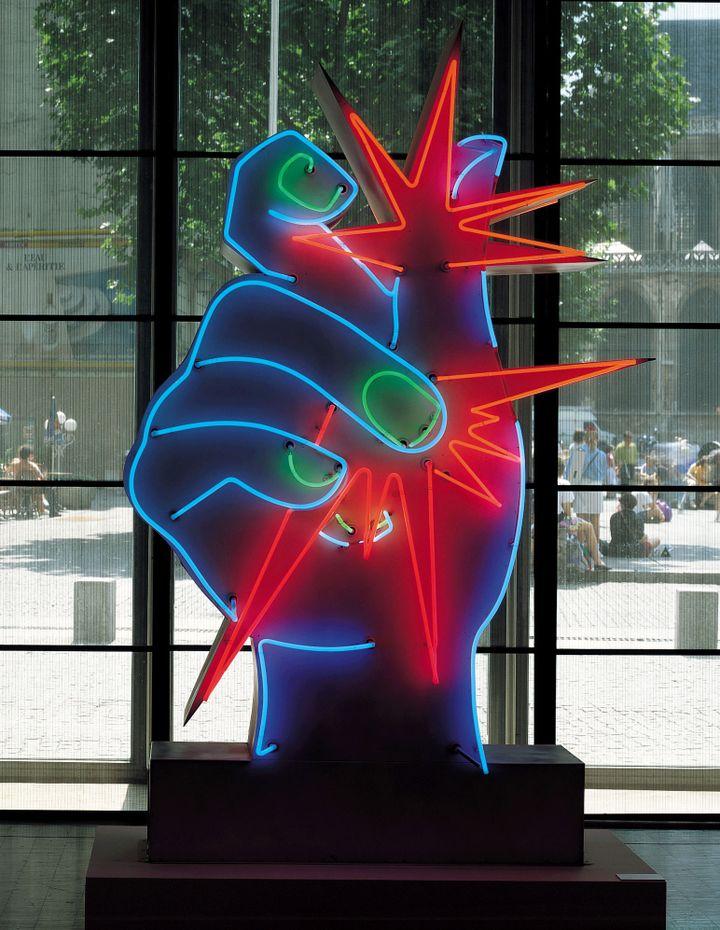 "Martial Raysse, ""America America"", 1964, Centre Pompidou, musée national d'art moderne, photo : Philippe Migeat / dist. RMN-GP  (Adagp, Paris 2014)"