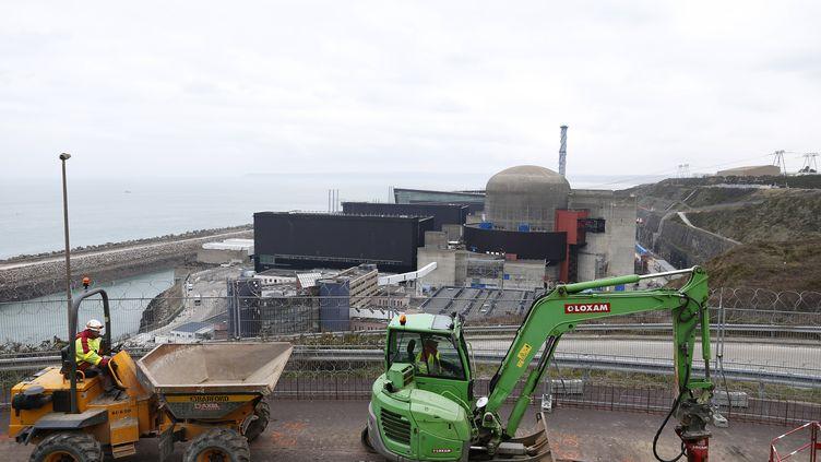 Le chantier de l'EPR de Flamanville (Manche), le 9 février 2017. (CHARLY TRIBALLEAU / AFP)