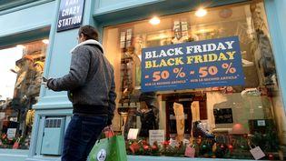 Rennes, le 4 décembre 2020. Le Black Friday qui a débuté ce vendrediva se poursuivre dans de nombreux commerces, mais aussi sur internet. (MARC OLLIVIER / MAXPPP)