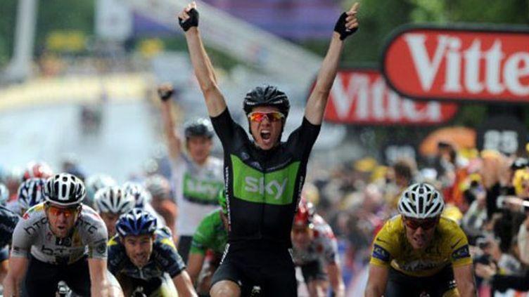 Boasson Hagen le plus rapide (PASCAL PAVANI / AFP)