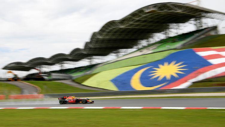 Max Verstappen en Malaisie (MANAN VATSYAYANA / AFP)