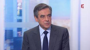 François Fillon aujournal de 20 heures de France, le 28 novembre 2016. (FRANCE 2)