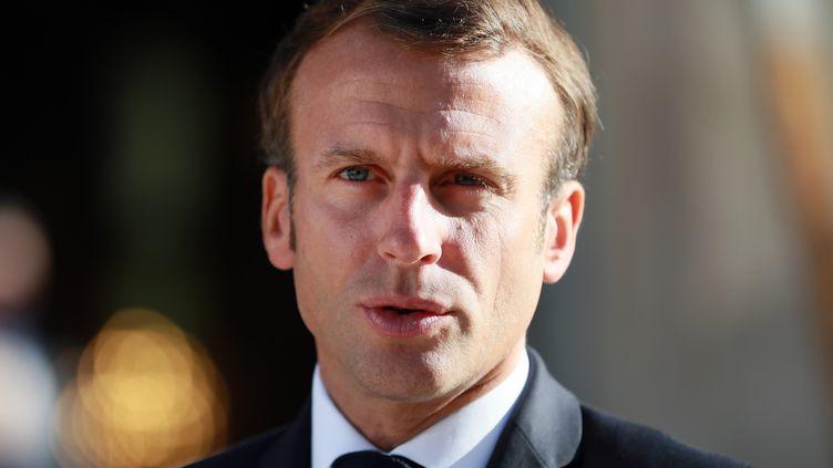 Emmanuel Macron, le 20 septembre 2019 à Paris. (MUSTAFA YALCIN / ANADOLU AGENCY)