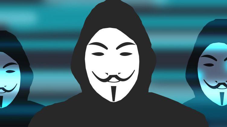 Les Anonymous ont publié une vidéo samedi 30 mai, menaçant la police de Minneapolis, après la mort de Georges Floyd. (STEPHANIE BERLU / RADIO FRANCE)