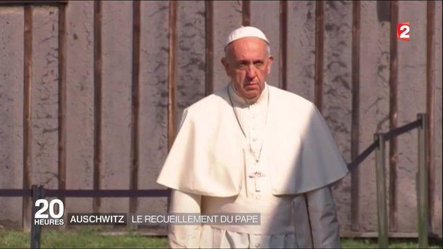 Auschwitz : le recueillement silencieux du pape