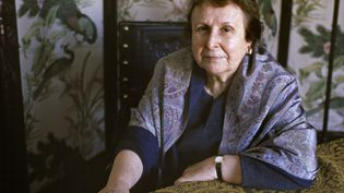 La romancière portugaiseAgustina Bessa-Luis, chez elle en 2000 (ULF ANDERSEN / AURIMAGES / ULF ANDERSEN)