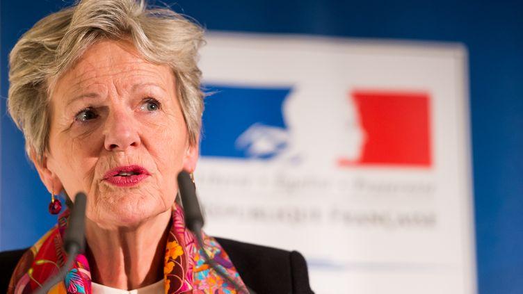 La procureure du Parquet national financier, Eliane Houlette, le 14 janvier 2016, près de Munich (Allemagne). (LUKAS BARTH / AFP)