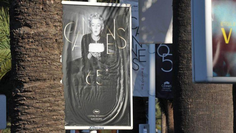 Marilyn Monroe s'affiche partout cette année à Cannes  (URMAN LIONEL/SIPA)