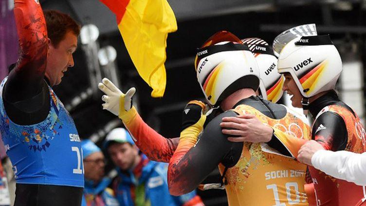 La joie de l'équipe allemande (LEON NEAL / AFP)