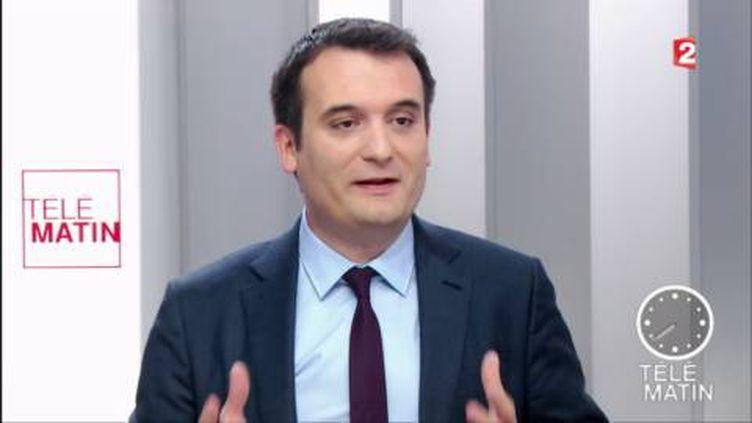 Florian Philippot, vice-président du Front national. (FRANCE 2)